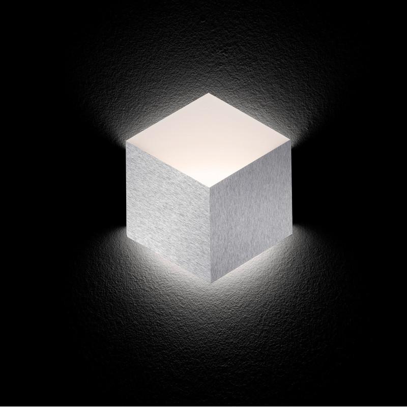 Applique LED Geo Aluminium brossé Grossmann
