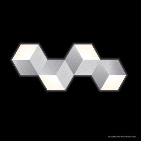 Applique LED Geo Aluminium brossé