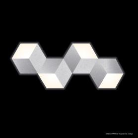Applique LED Geo Aluminium brossé