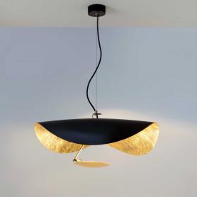 Suspension LED Lederam Manta S1 Noir/Or