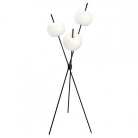 Lampadaire LED Kushi Noir