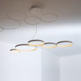 Suspension LED Super 8 Blanc