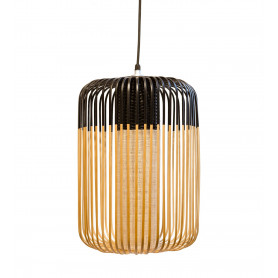 Suspension Bamboo Light L Noir