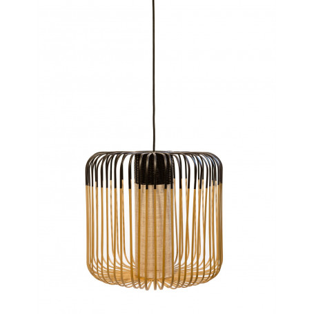 Suspension Bamboo Light M Noir