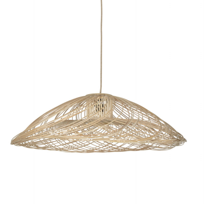 Suspension satelise rotin naturel forestier comptoir for Lustre en osier