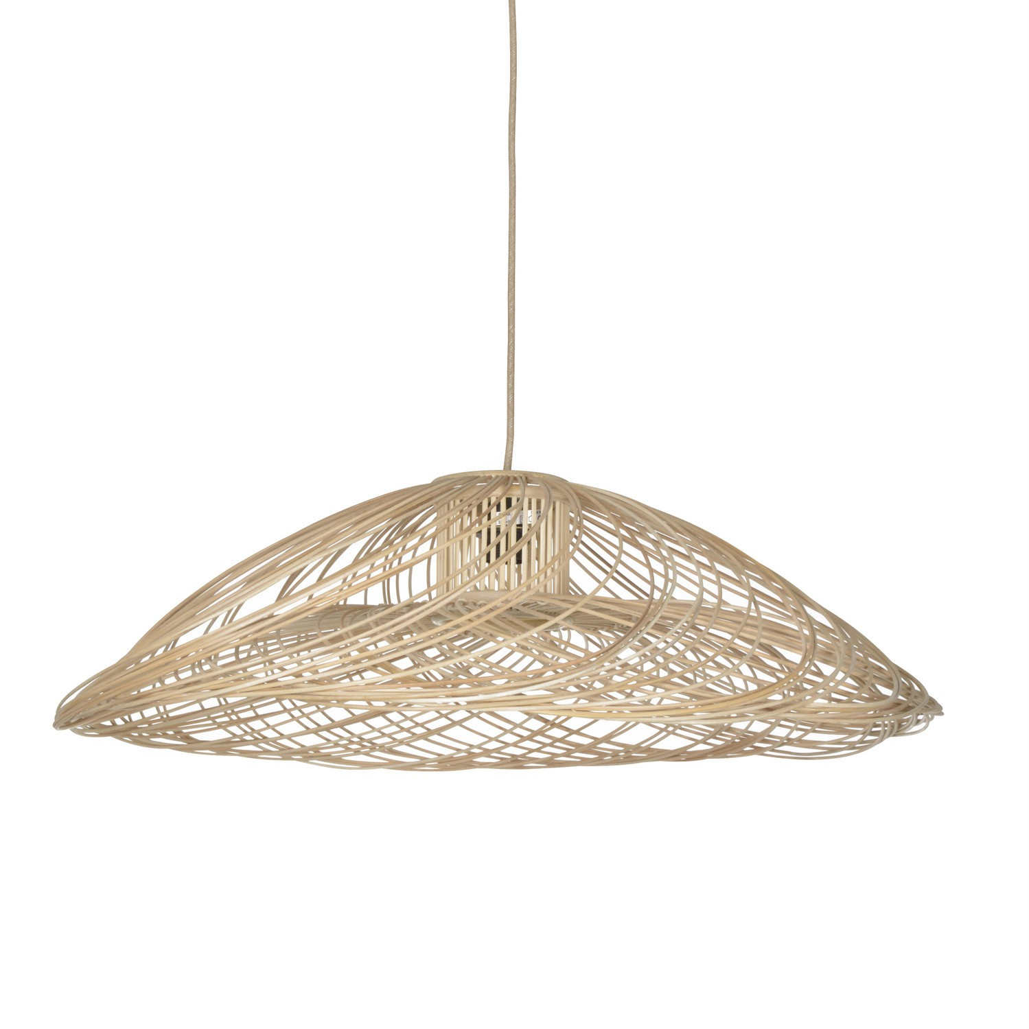 Suspension Satelise Rotin Naturel   Forestier