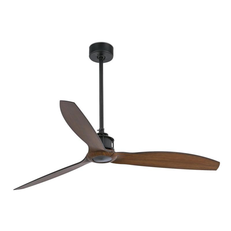 Ventilateur de plafond Just Fan Noir/Bois - Faro