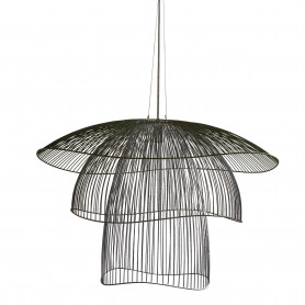 Suspension Papillon L 100cm Noir