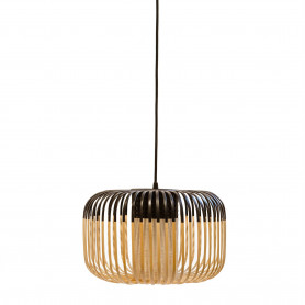 Suspension Bamboo Light S Noir