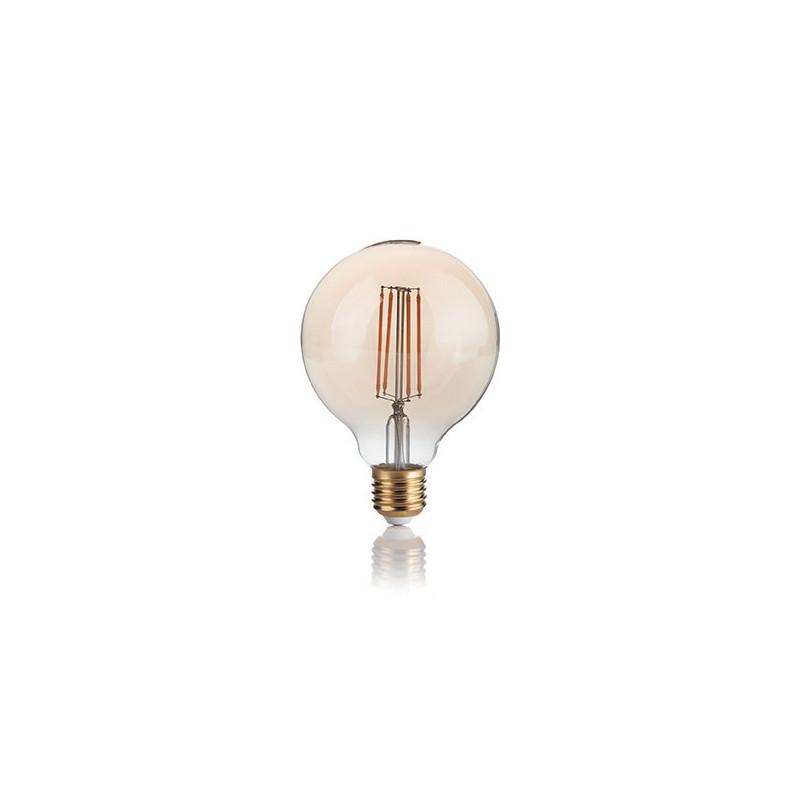 Ampoule LED à filament Globe 4 W Ambrée - Ideal Lux