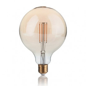 Ampoule LED à filament Grand globe 4 W Ambrée