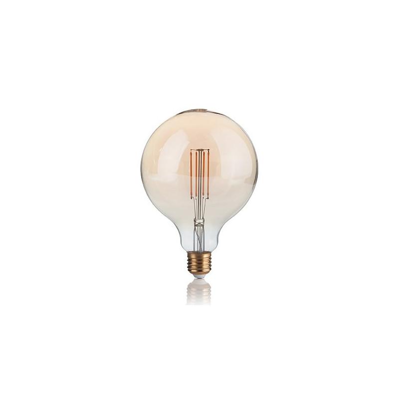 ampoule led filament dimmable grand globe 4 w ambr e ideal lux comptoir des lustres. Black Bedroom Furniture Sets. Home Design Ideas