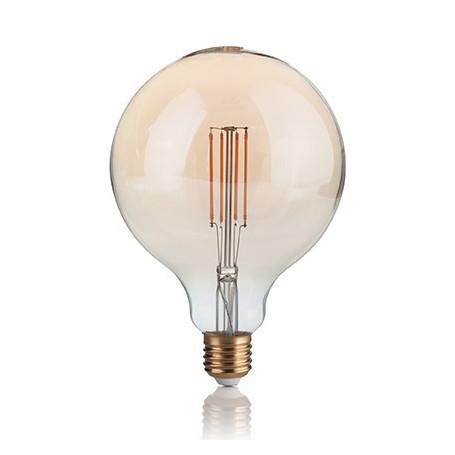 Ampoule LED à filament Grand globe 4 W Ambrée