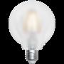 Ampoule LED à filament Grand globe 8 W Satiné
