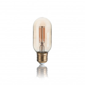 Ampoule LED à filament Tube ambrée 4 W E27