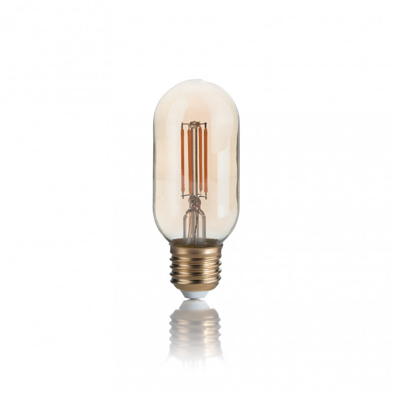 Ampoule LED à filament Tube ambrée 4 W E27 - Ideal Lux