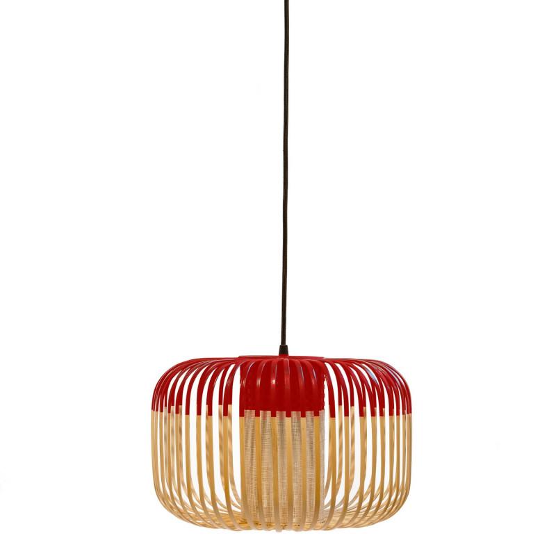 suspension bamboo light s en bambou rouge forestier. Black Bedroom Furniture Sets. Home Design Ideas