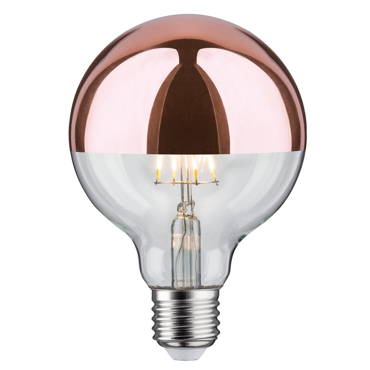 Ampoule LED Globe Calotte cuivre 7.5 W - Paulmann   Comptoir des Lustres