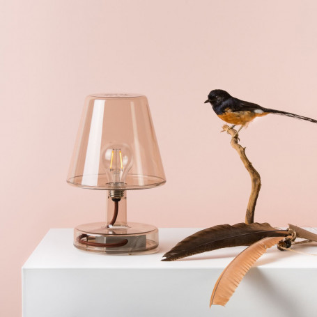 Lampe nomade LED Transloetje Brun