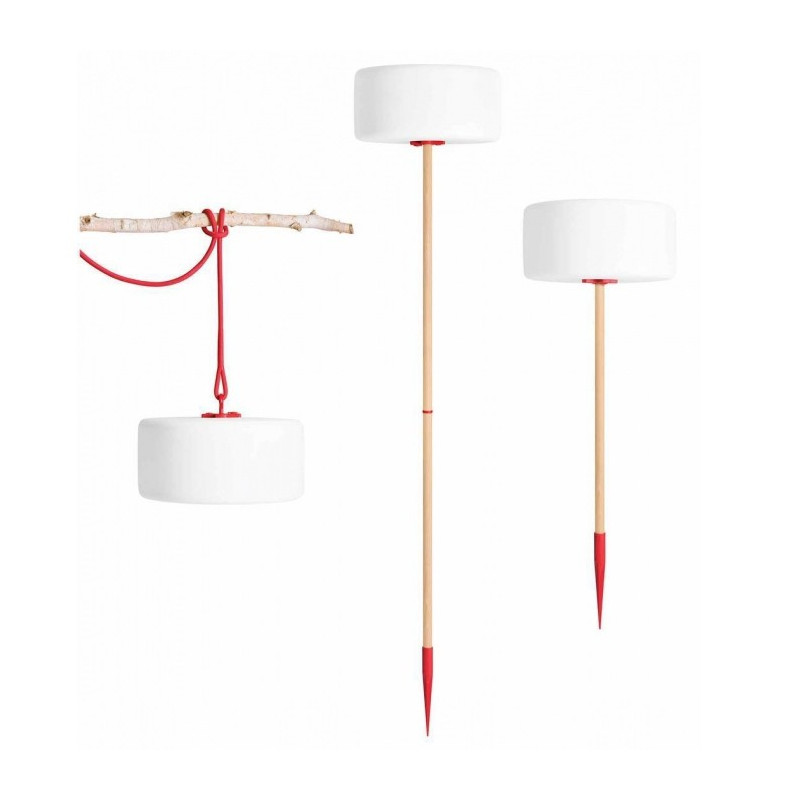 Luminaire nomade LED Thierry le Swinger Rouge