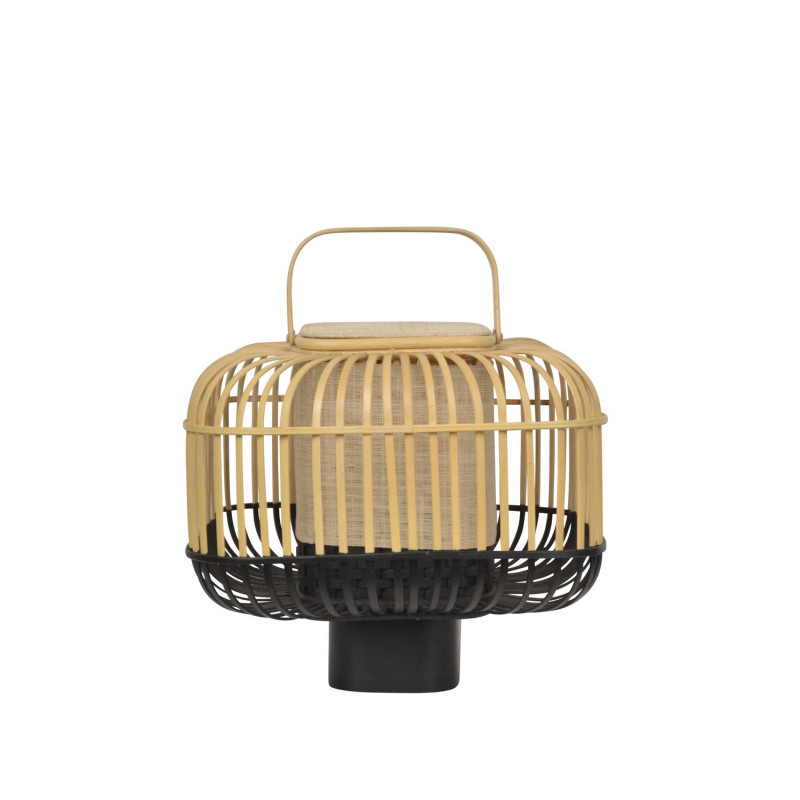 Lampe Bamboo Square S Noir