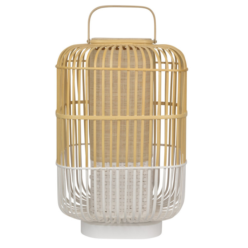 Lampe Bamboo Square L Blanc - Forestier