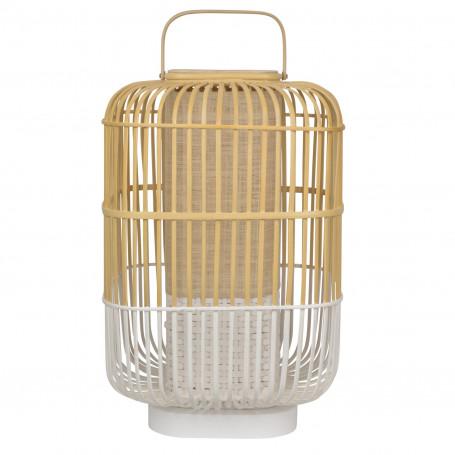 Lampe Bamboo Square L Blanc