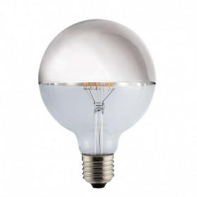 Ampoule LED Globe Calotte argent 8 W