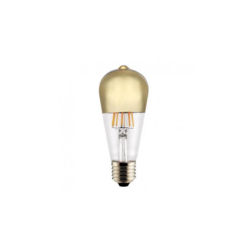 Ampoule LED Edison Calotte or 6 W - CristalRecord