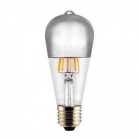 Ampoule LED Edison Calotte argent 8 W