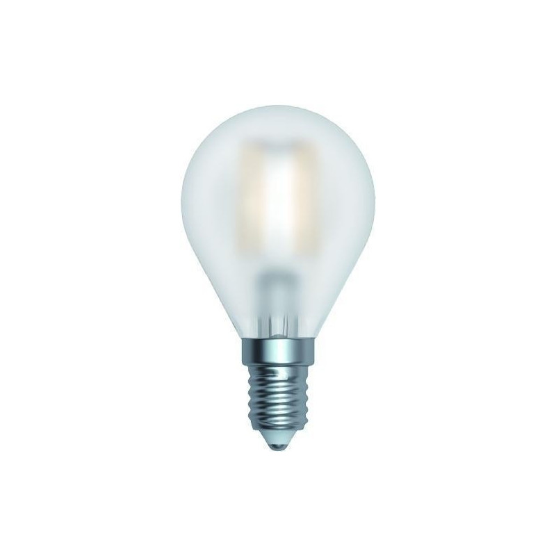 Ampoule LED à filament Sphérique 4 W Satinée E14