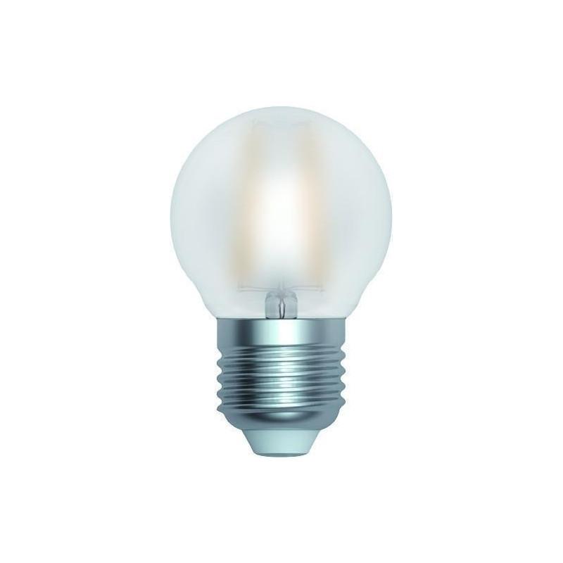 Ampoule LED à filament Sphérique 4 W Satinée