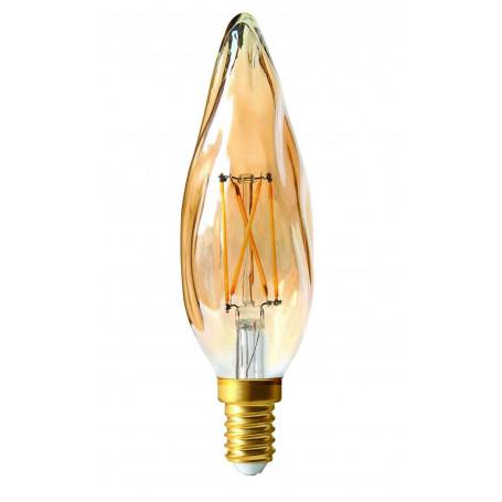Ampoule LED 4W Dimmable Flamme Grand siècle Ambrée E14