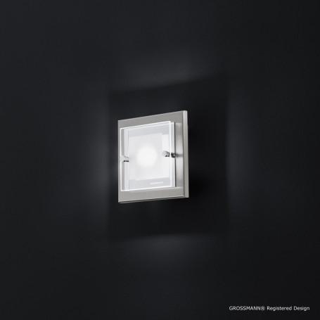 Applique 1 lampe Domino LED Nickel mat