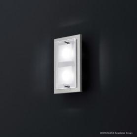 Applique 2 lampes Domino LED Nickel mat