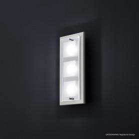 Applique 3 lampes Domino LED Nickel mat