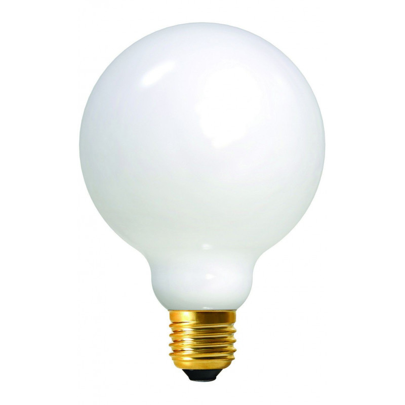 Ampoule LED à filament globe opaline E27 - Girard Sudron